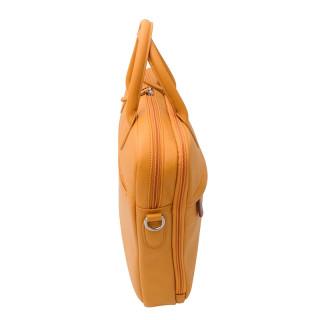 Jump Uppsala Leather Cartable 2 Soufflets 40cm PC 15' Curry
