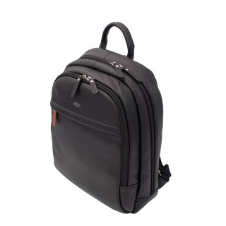 Jump Uppsala Leather Backpack Borne 38cm PC 13' Black