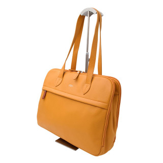 Jump Uppsala Cuir Sac Business Porté Epaule PC 15' Curry