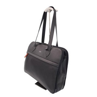 Jump Uppsala Leather Bag Business Worn Shoulder PC 15' Black