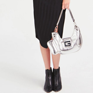 Guess Brightside Bag Hobo Shoulder Silver
