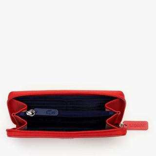 Lacoste Portefeuille Large zip L12.12 Rouge