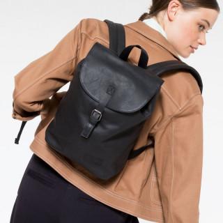 Eastpak Casyl Leather Back Bag 64O Black Ink Leather