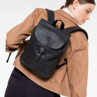 Eastpak Casyl Sac à Dos en Cuir 64O Black Ink Leather