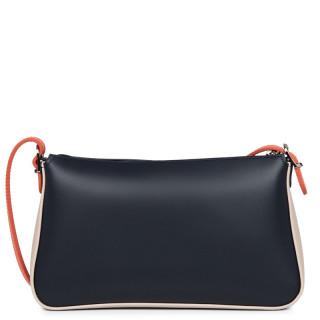 Lancaster Constance Bag Pocket 437-01 Blue Fonce-Galet Rose-Pasteque