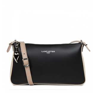 Lancaster Constance Bag Pocket 437-01 Black-Nude Clair-Nude Fonce