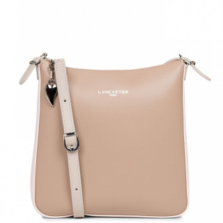 Lancaster Constance Crossbody Bag 437-09 Nude-Rose Galet-Rosé