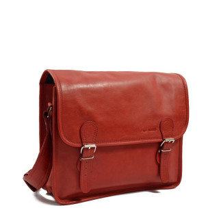 "Paul Marius Lasacoche M Leather Briefcase Laptop13"" Red Carmin"