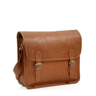 "Paul Marius LaSacoche M Leather Briefcase Laptop 13"" Natural"