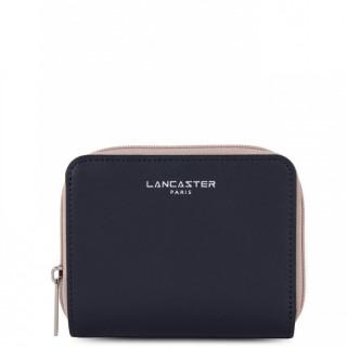 Lancaster Constance Portefeuille 137-17 Bleu Foncé Galet Rosé Pastèque