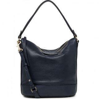 Lancaster Dune Bucket Bag Worn Shoulder 529-45 Blue Fonce