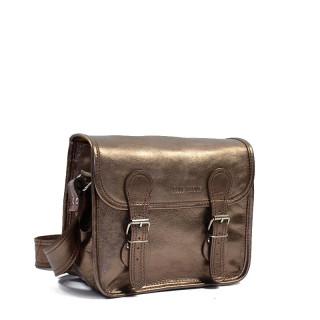 copper women leather crossbody bag by Paul Marius