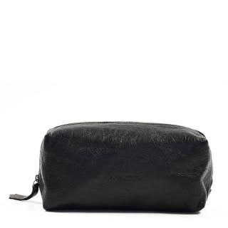 Paul Marius LeBarbier Leather Cosmetic Kit Black