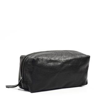 Paul Marius LeBarbier Black Leather Cosmetic Kit