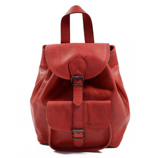 Paul Marius LeBaroudeur Leather Travel Back Pack Red Carmine