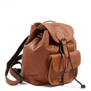 Paul Marius LeBaroudeur Leather Travel Back Pack Natural