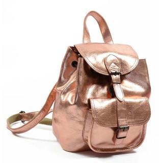Paul Marius LeBaroudeur Metal Leather Backpack Or Rose