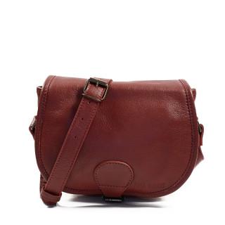 Paul Marius LeBohemien Leather Crossbody Bag Burgundy