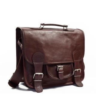 """Paul Marius LeCartable M Leather Satchel 13"""" Laptop Brown"""
