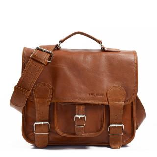 """Paul Marius LeCartable M Leather Satchel for 13"""" Laptop Natural"""