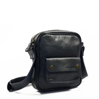 Paul Marius LeSaint Marc Leather Clutch Bag Petrol Blue