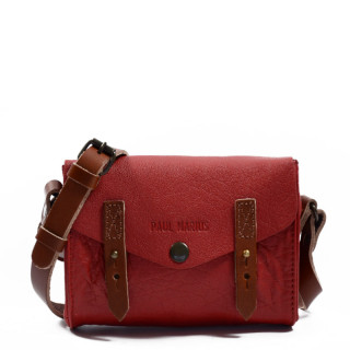 Paul Marius The Mini Indispensable Crossbody Bag Red Carmine