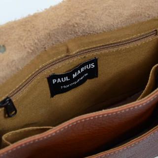 Paul Marius mini sac à main femme marron - Intérieur