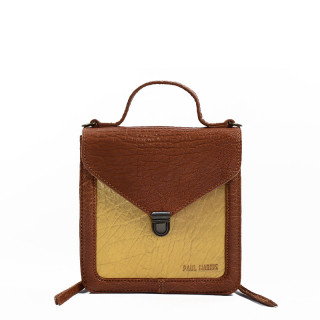 Paul Marius Mistinguette A Main Bag and Golden Natural Trotter