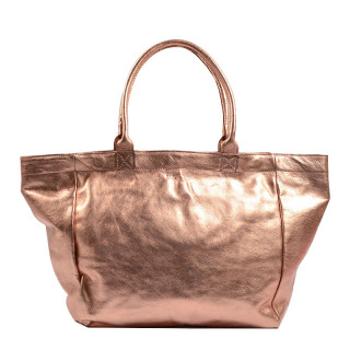 Paul Marius Monpartenaire M Sac Cabas cuir Or Rose