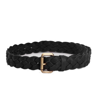 Biba Negro Braided Leather Belt