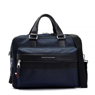 Tommy Hilfiger Elevated Bag Texted Computer Business Desert Sky