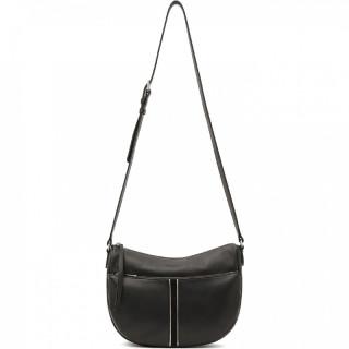 Lancaster Soft Vintage Messenger Bag 578-28 Black