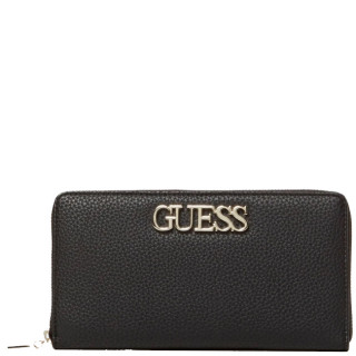 Guess Uptown Compagnon Large Zip Around Black