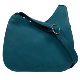 Jean Louis Fourès Messenger Bag Turquoise
