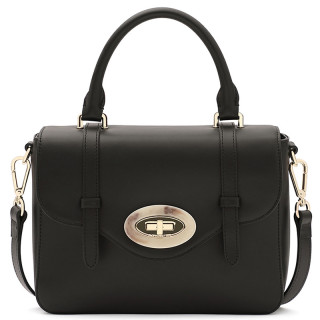 Lancaster Marble Touch Handbag A Hand Leather 571-64 Black