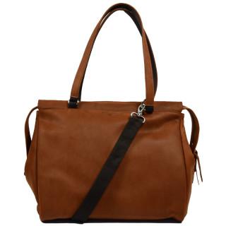 Jean Louis Fourès Baroudeuse Bag Shopping Porté Travers Fauve