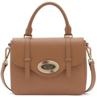 Lancaster Marble Touch Leather Handbag 571-64 Camel