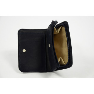 Jean Louis Fourès Baroudeuse Back-To-Back Navy Wallet