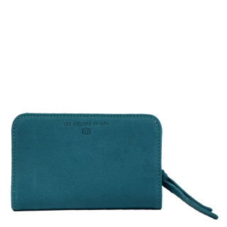 Jean Louis Fourès Baroudeuse Wallet Back to Dos B23 Turquoise