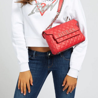 Guess Illy Sac A Bandoulière Capitonné Red