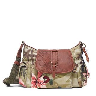 Desigual Garden Kyoto Bag Flap Caqui Side Pockets