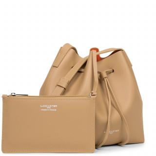 Lancaster City Bucket Bag Crossed 423-18 Natural In Orange