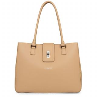Lancaster City Maé Bag Cabas Shoulder 432-28 Natural