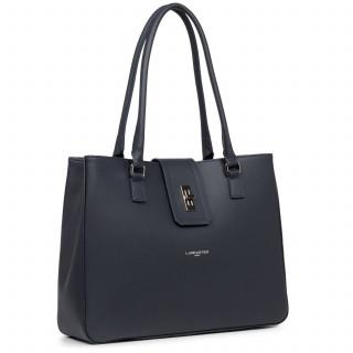 Lancaster City Maé Bag Cabas Shoulder 432-28 Dark Blue
