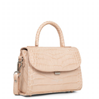 Lancaster Exotic Croco Small Handbag 426-84 Powder