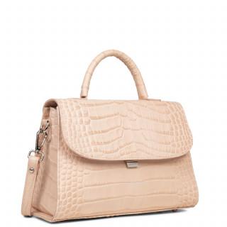 Lancaster Exotic Croco Grand Handbag 426-85 Powder