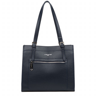 Lancaster Foulonne Double Besace 470-23 Blue In Silver