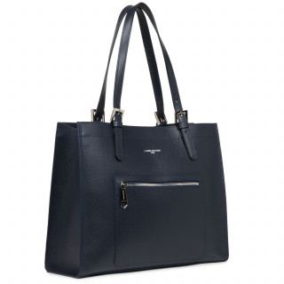 Lancaster Foulonne Double Grand Bag Cabas 470-24 Blue In Silver