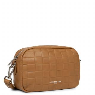 Lancaster Waffle Petit Crossbody Bag 421-22 Camel