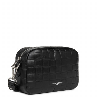 Lancaster Waffle Petit Crossbody Bag 421-22 Black